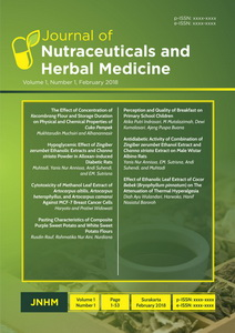 Journal of Nutraceuticals and Herbal Medicine