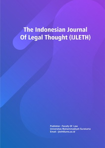 The Indonesian Journal of Legal Thought (IJLETH)
